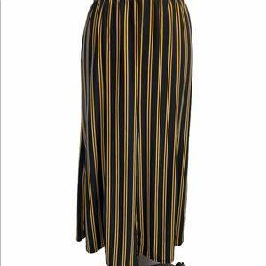 Antthony long skirt black / yellow striped M 8-10